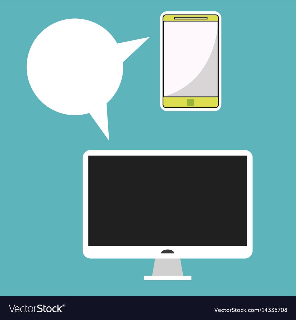 Computer smarpthone communication message social vector image