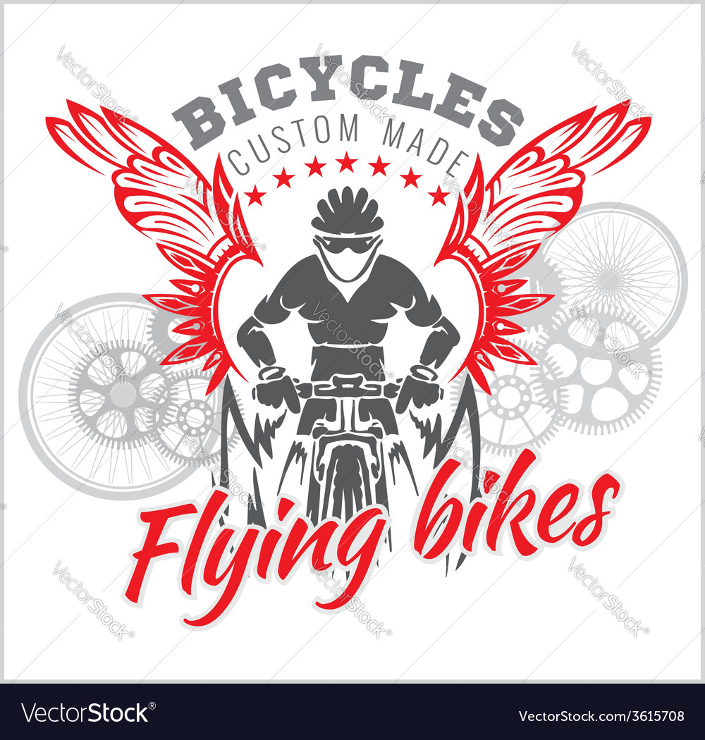 Designs with Flying Bicycle for fashion