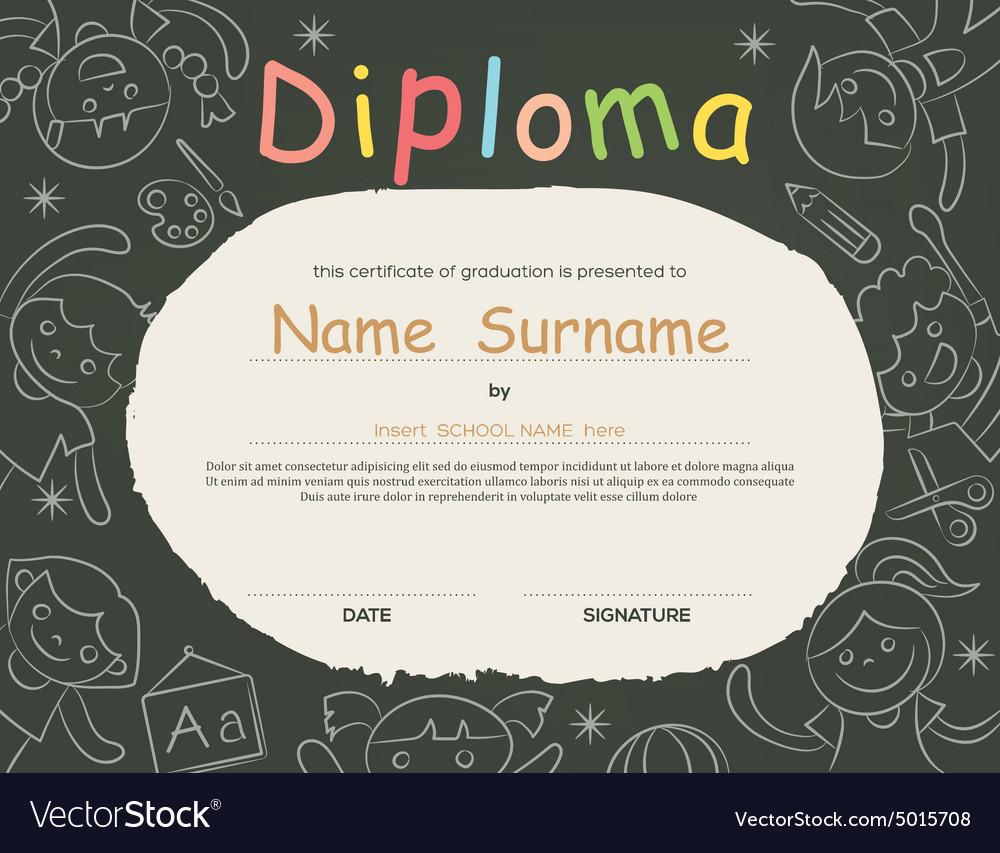 Elementary school Kids Diploma certificate