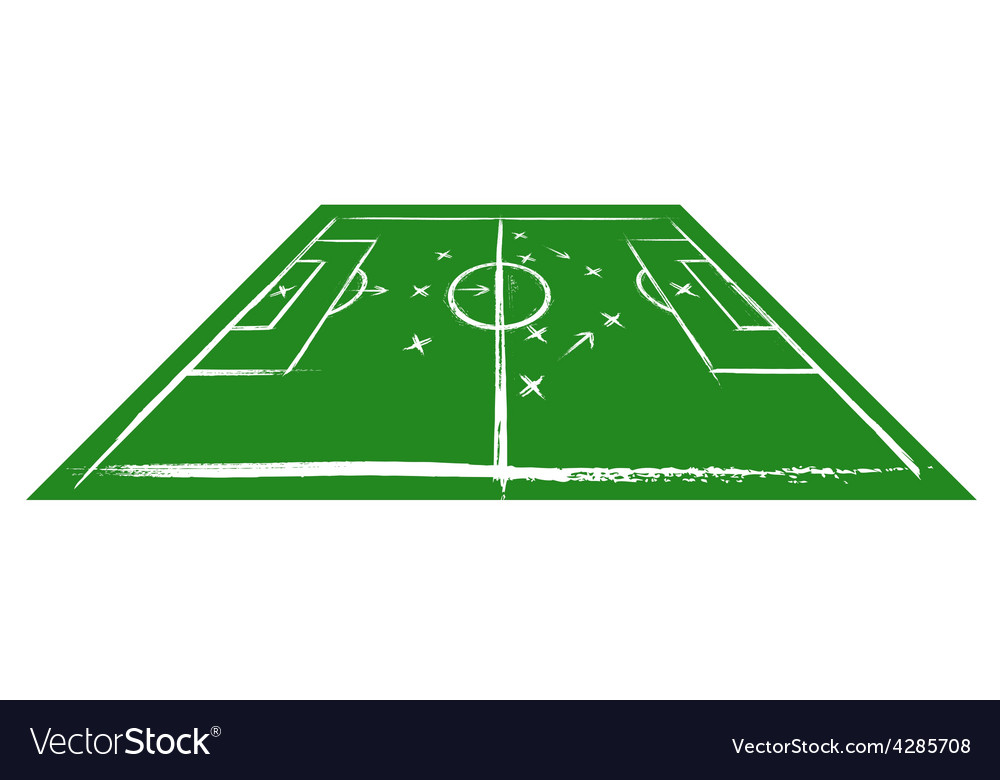 Football field in perspective vector image