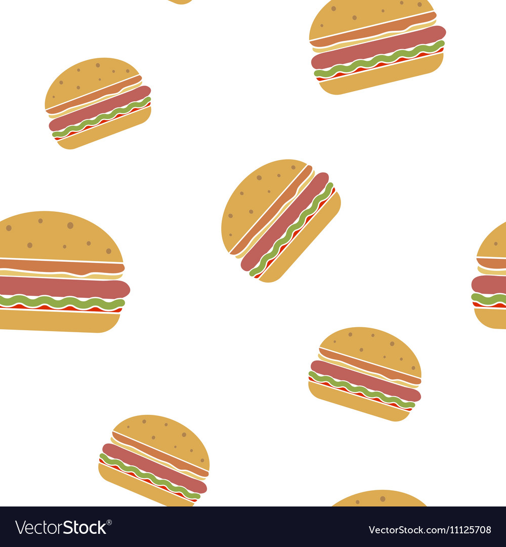 Seamless pattern with fastfood icons
