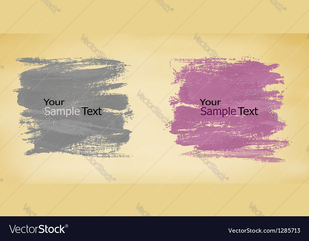Abstract banners with watercolor splashes vector image