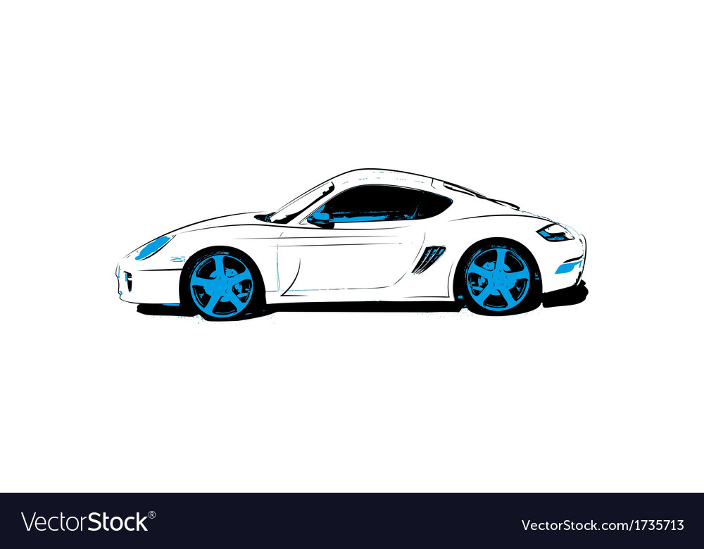 Abstract race car vector image