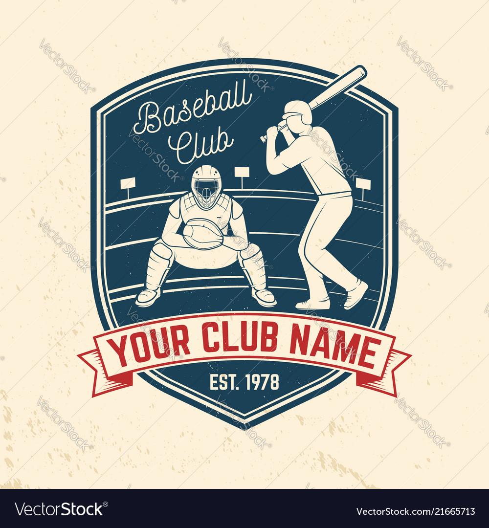 Baseball or softball club badge