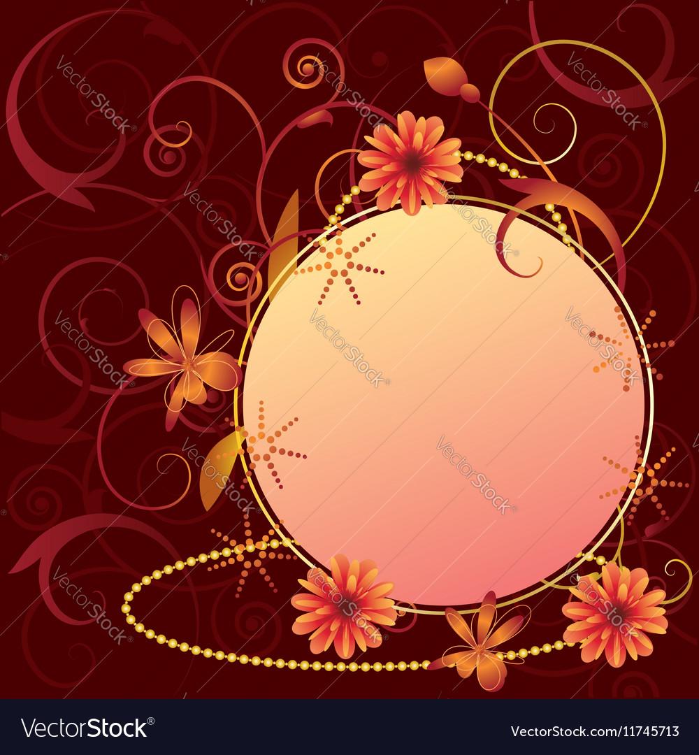 Floral ornate frame