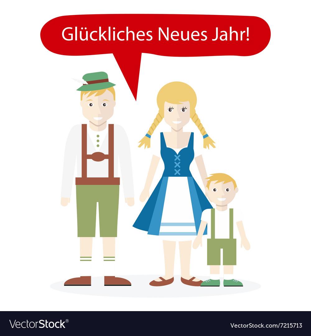 Germans People Congratulations Happy New Year