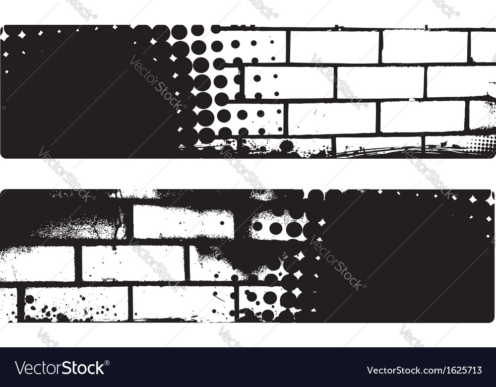 Grunge brickwall banners vector image