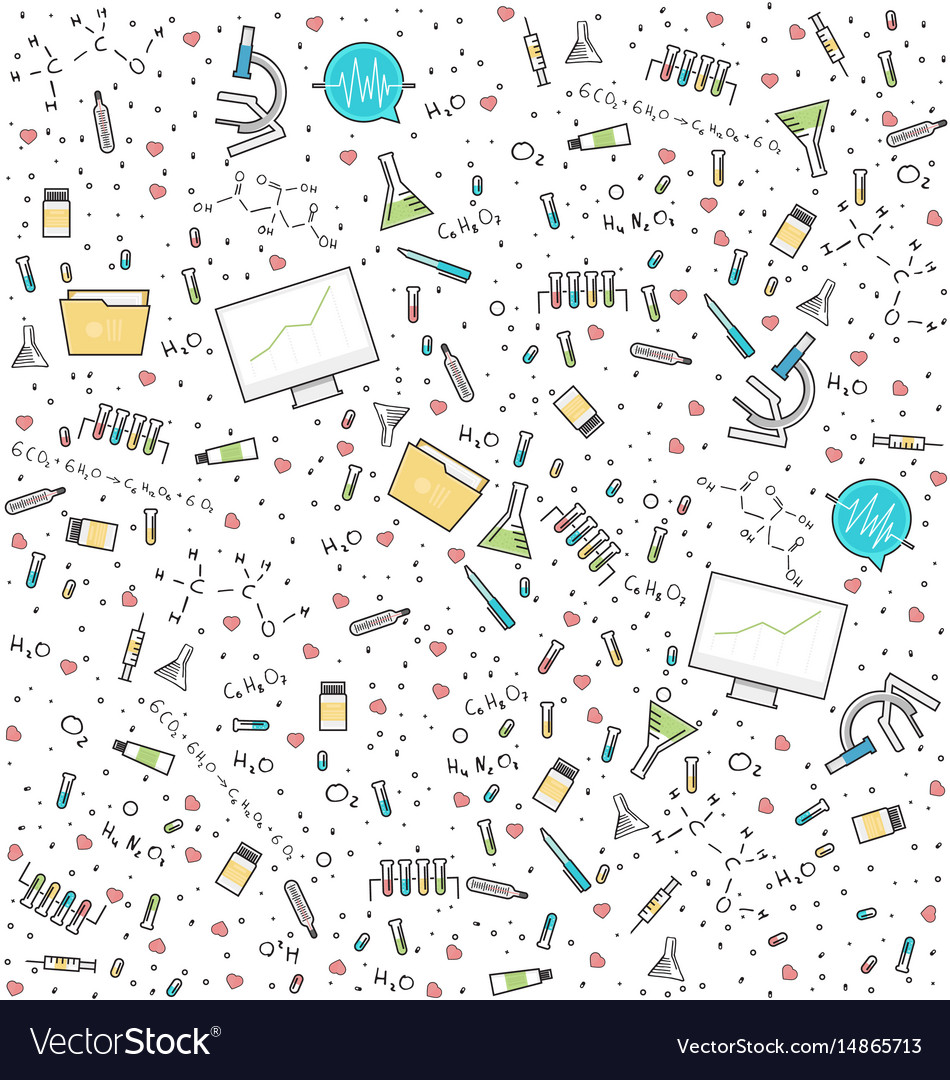 Science medical seamless pattern