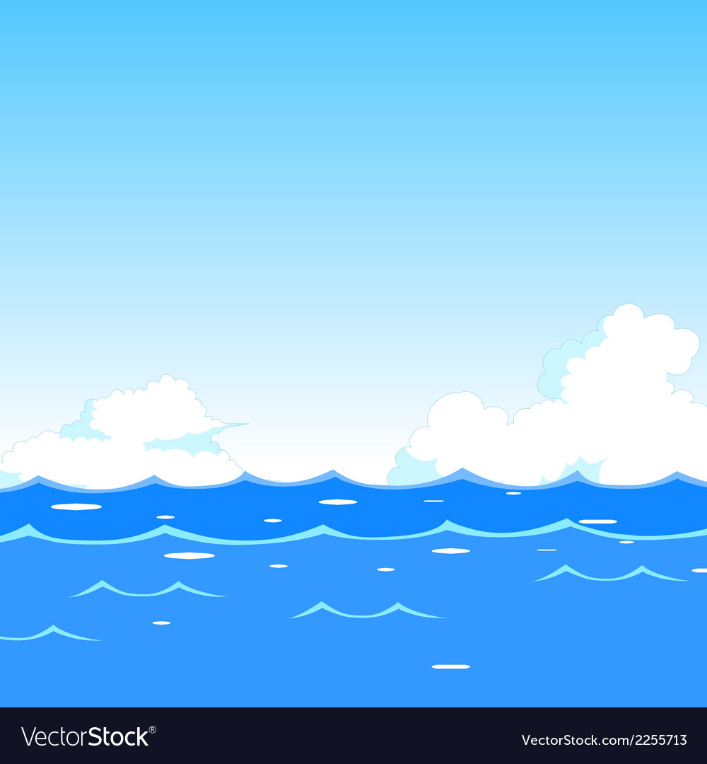 sea waves background royalty free vector image