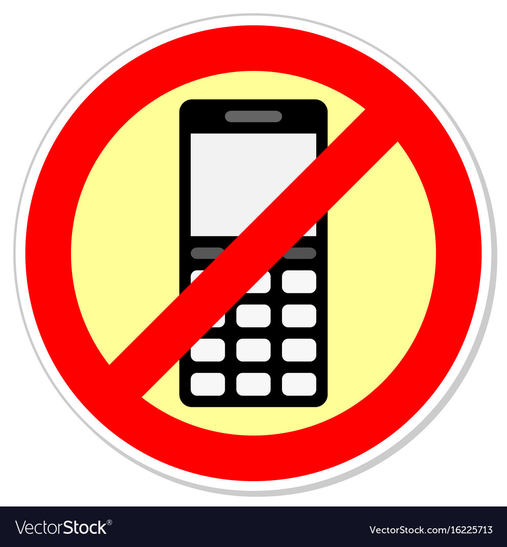 Sign forbidding to use the phone