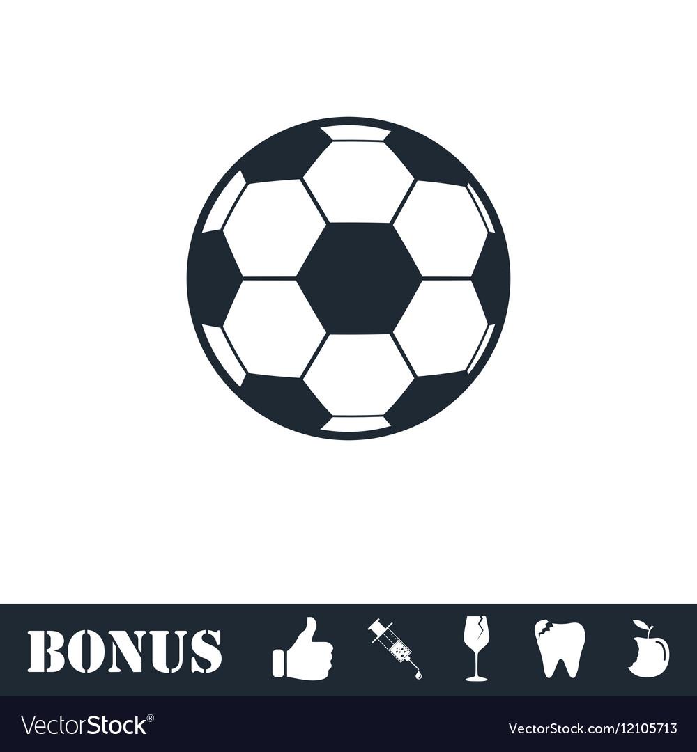 Soccer ball icon flat