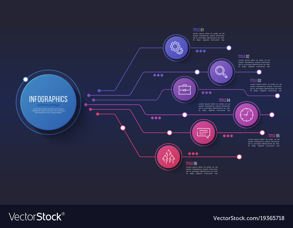 6 options infographic design structure