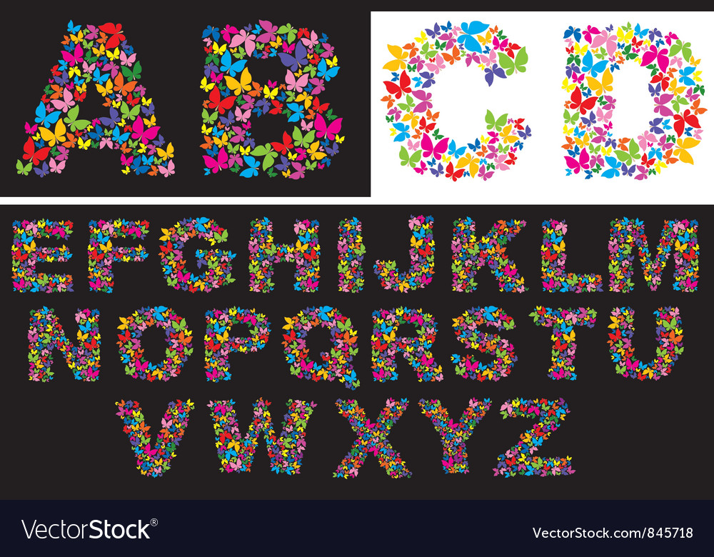 Alphabet - butterfly letters