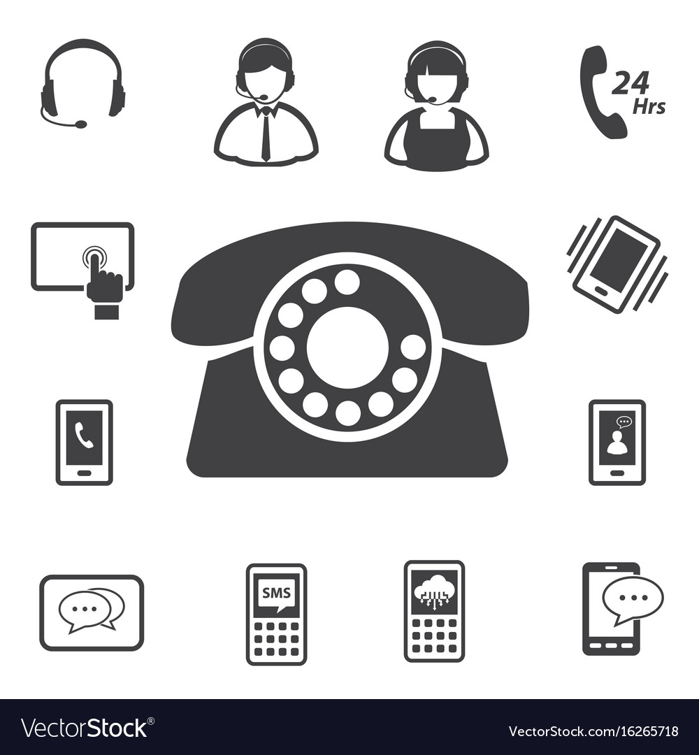 Call center and customer service icon set