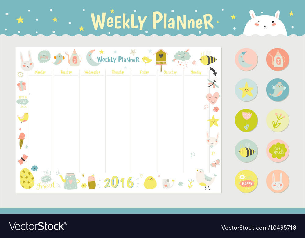 image relating to Cute Weekly Planners named Lovable Calendar Weekly Planner