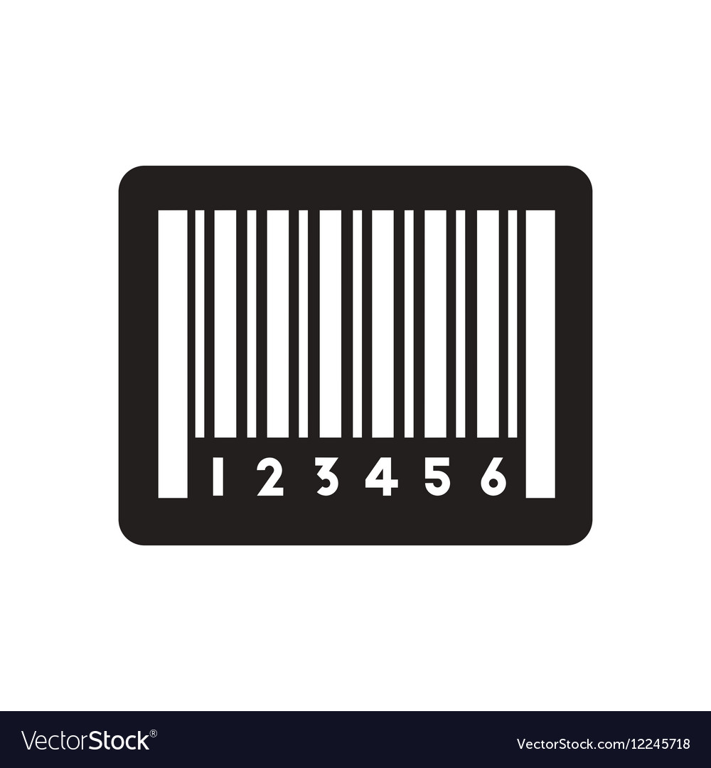 Flat icon in black and white barcode