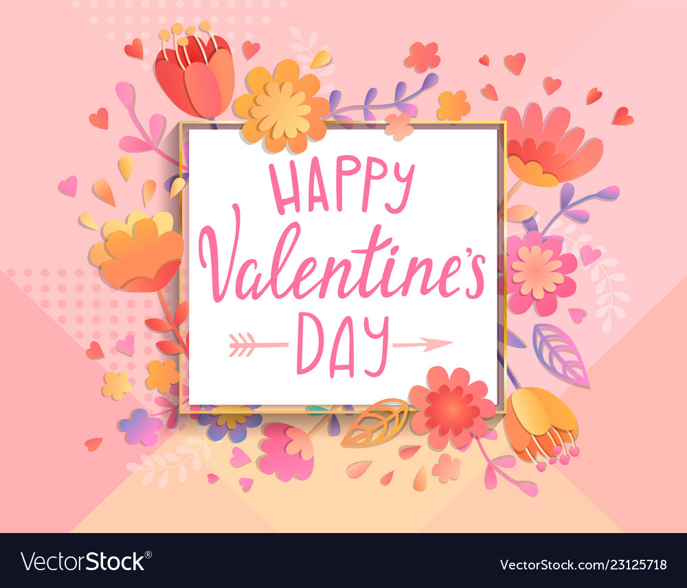 Happy valentines day card template