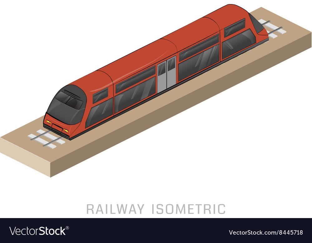 Isometric of subway train vector image