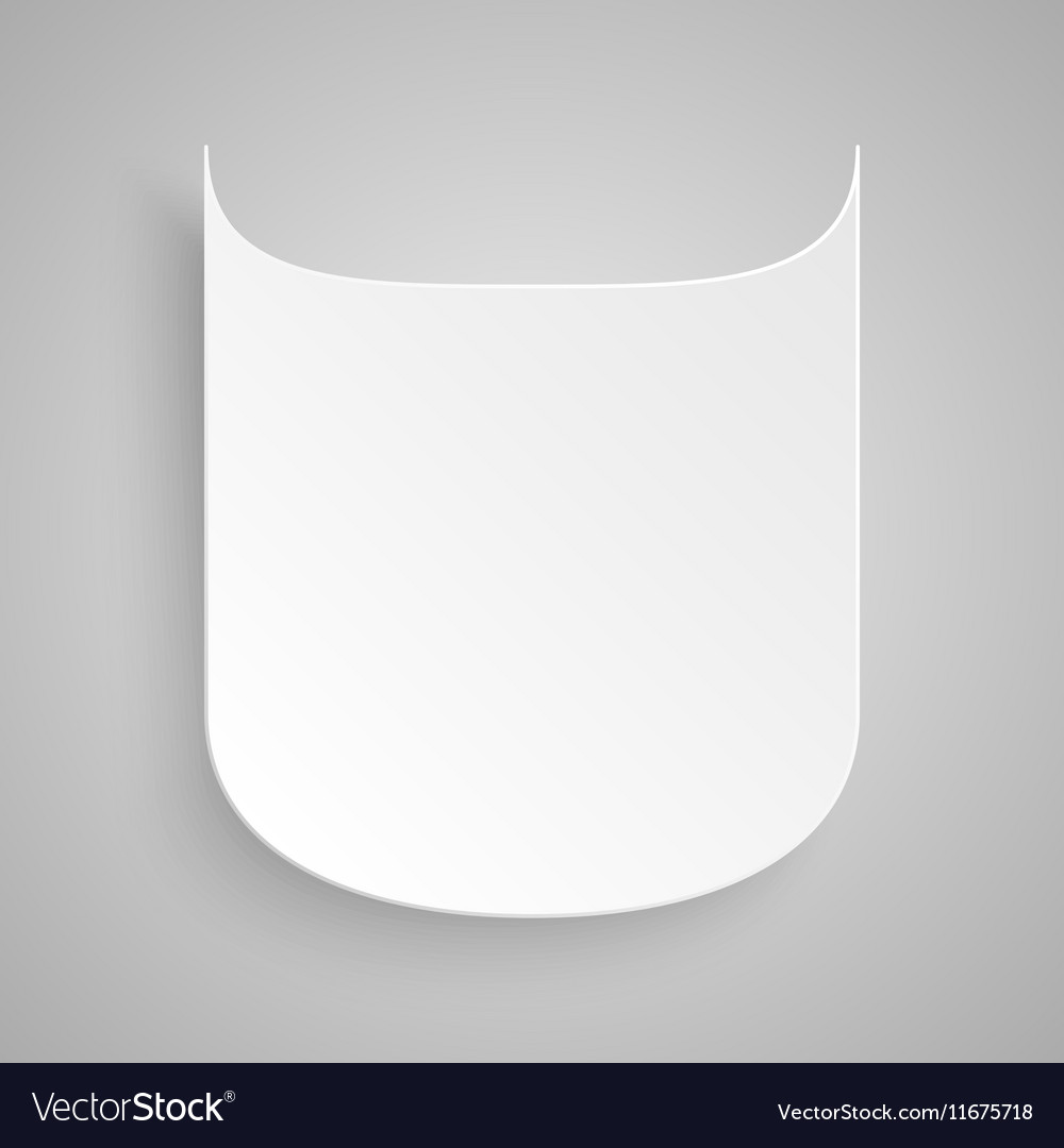 Paper Banner Design Mockup Shield