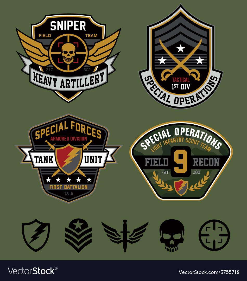 Special ops military patches