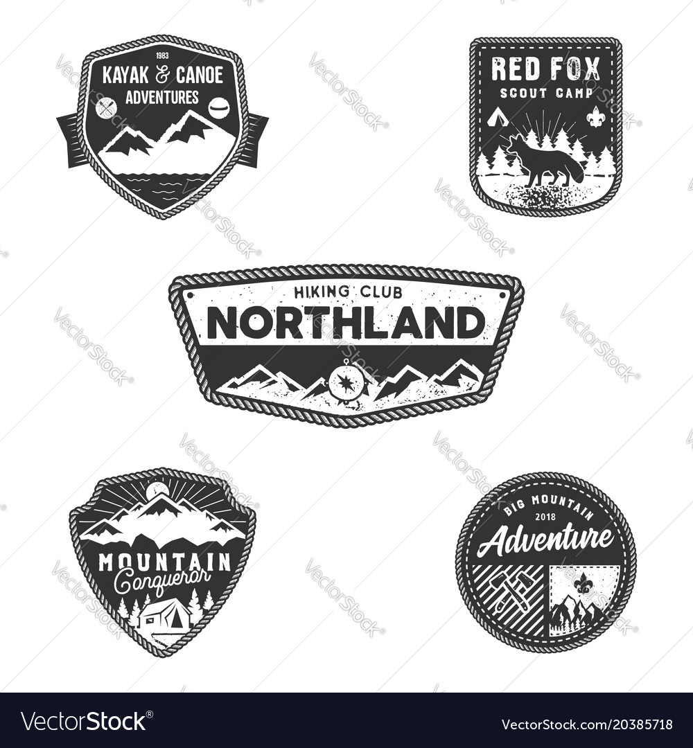 travel badge outdoor activity logo collection vector image