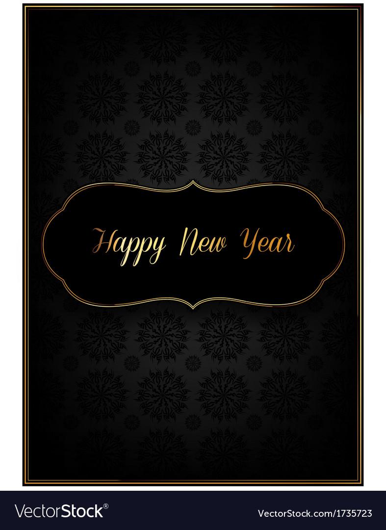 Black new year card