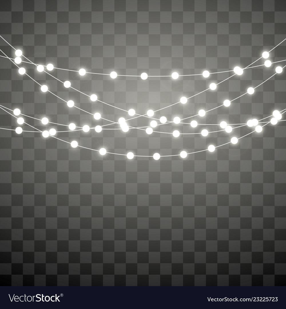 Christmas Lights Isolated On Transparent