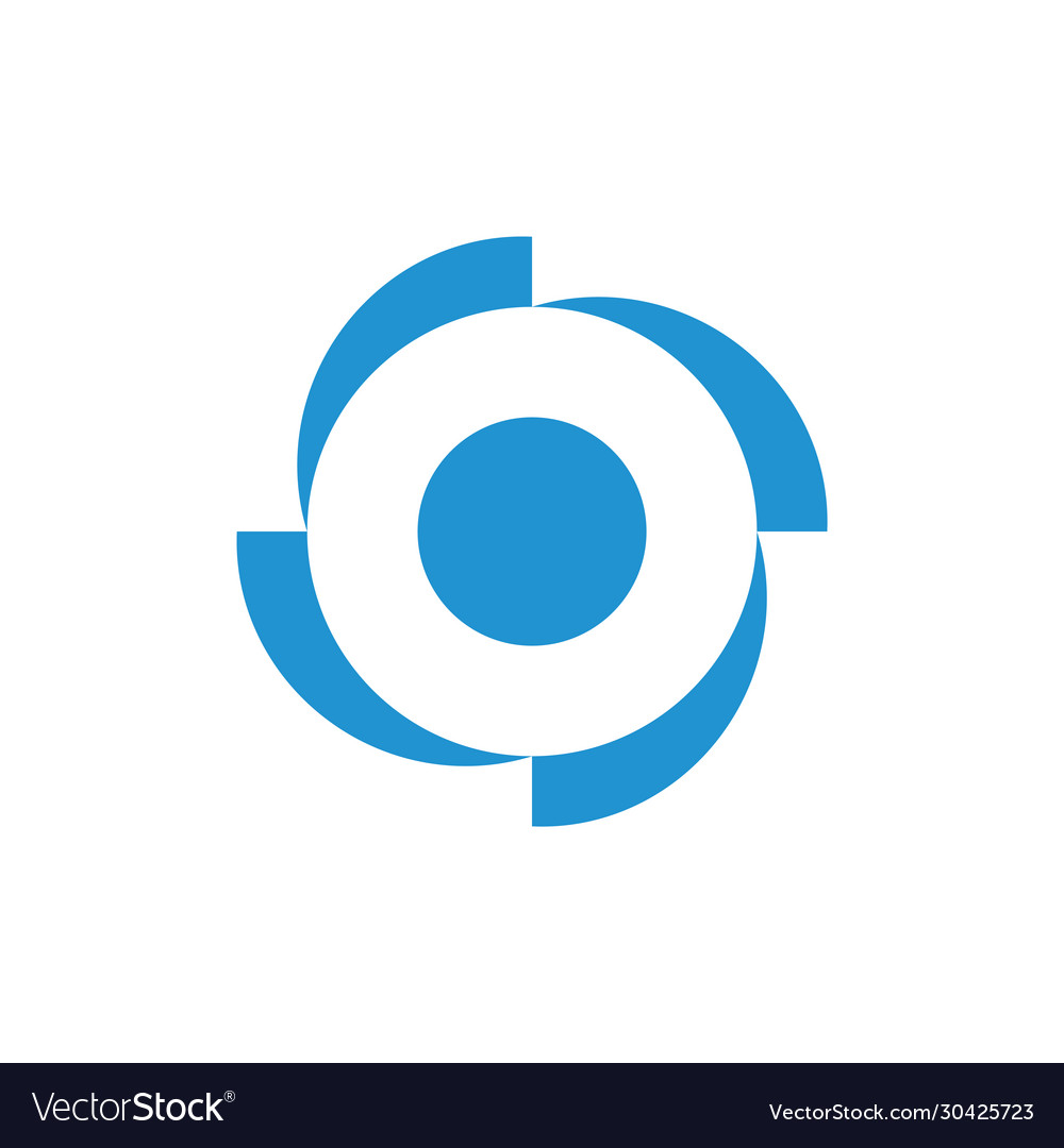 Circle geometric rotation four arrow logo