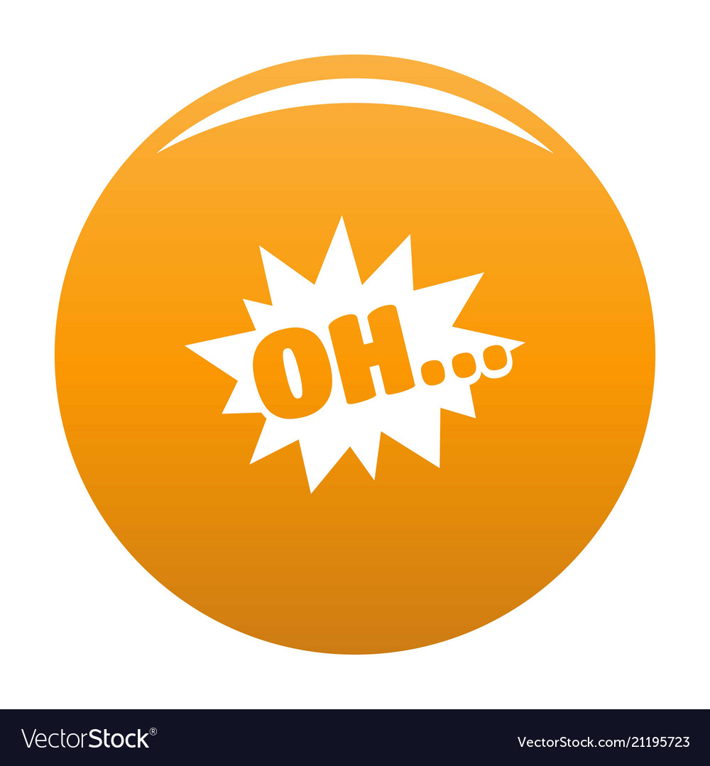 Comic boom oh icon orange