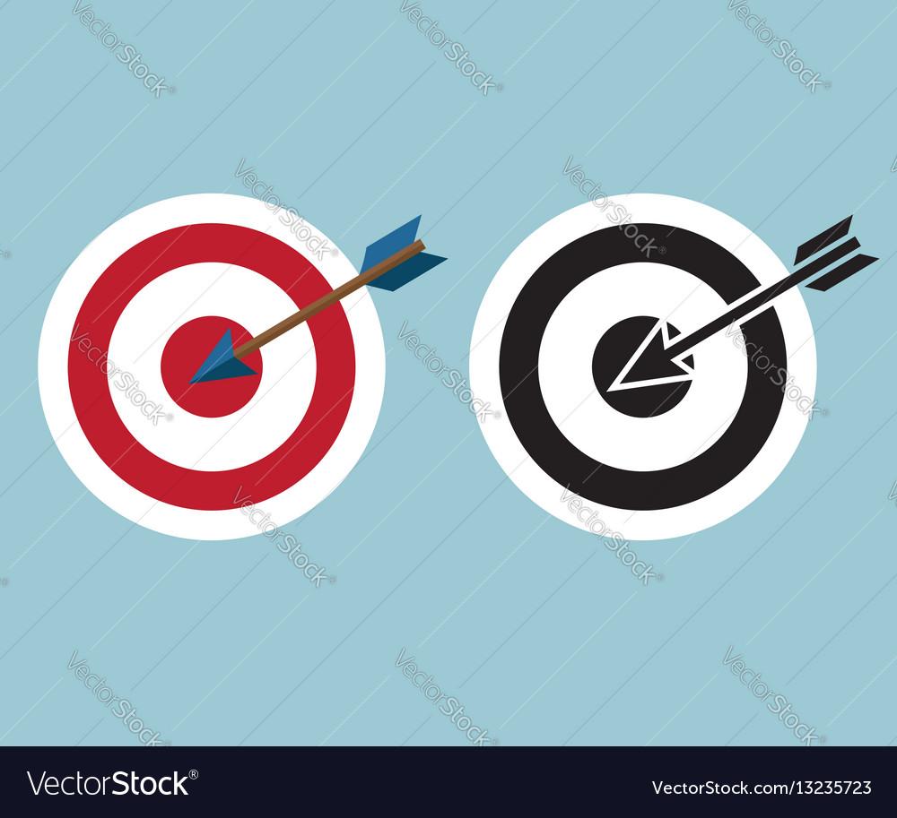 Dartboard with arrow icon symbol