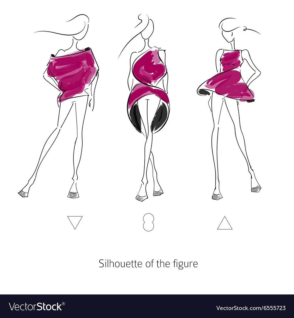 Fashion Model Silhouette Royalty Free Vector Image