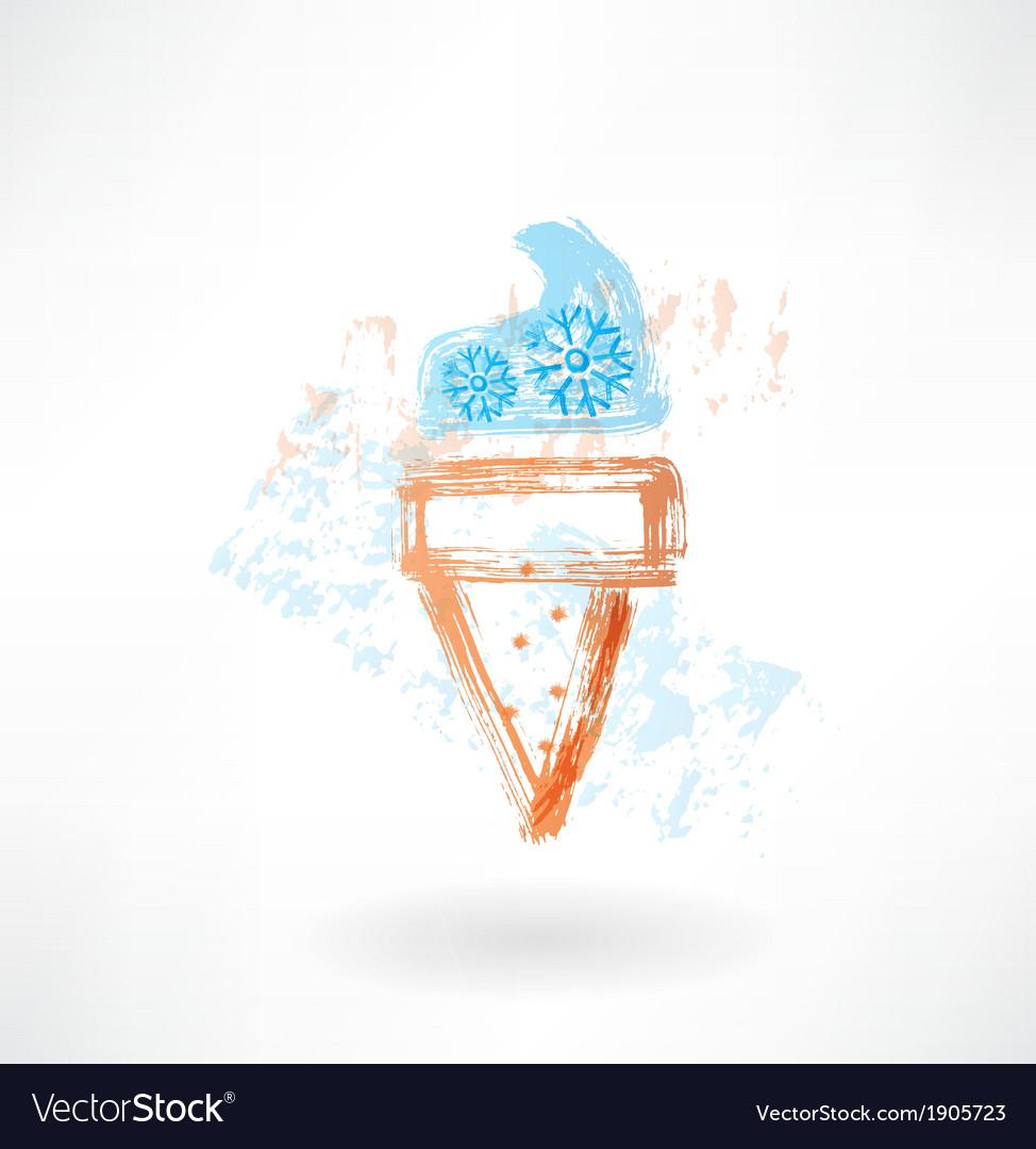 Freeze ice-cream grunge icon