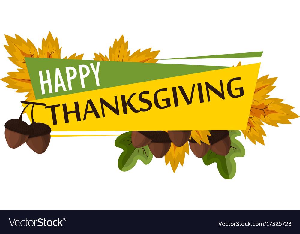 Happy thanksgiving celebration design cartoon