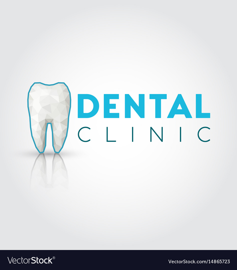 Logo for dental clinic with polygonal tooth