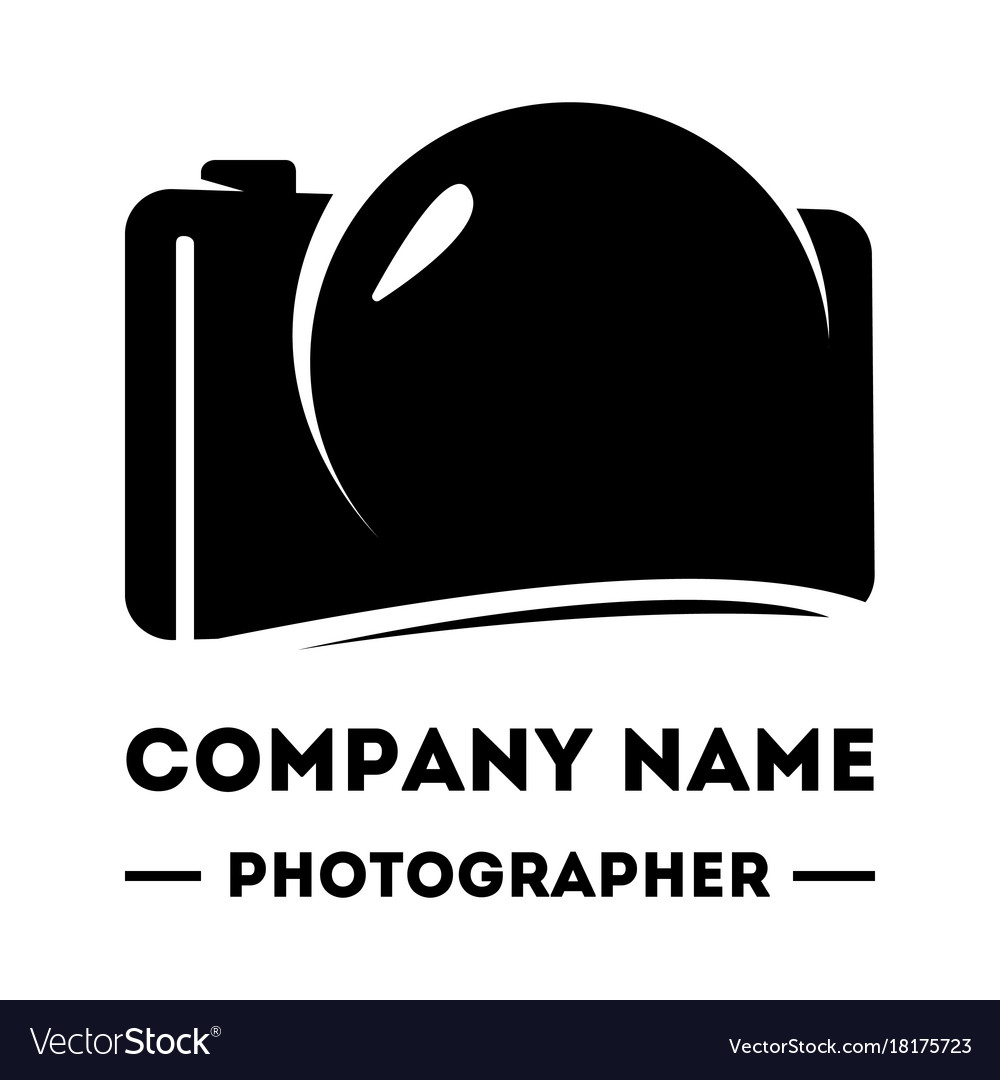 Simple logotype for a photographer abstract