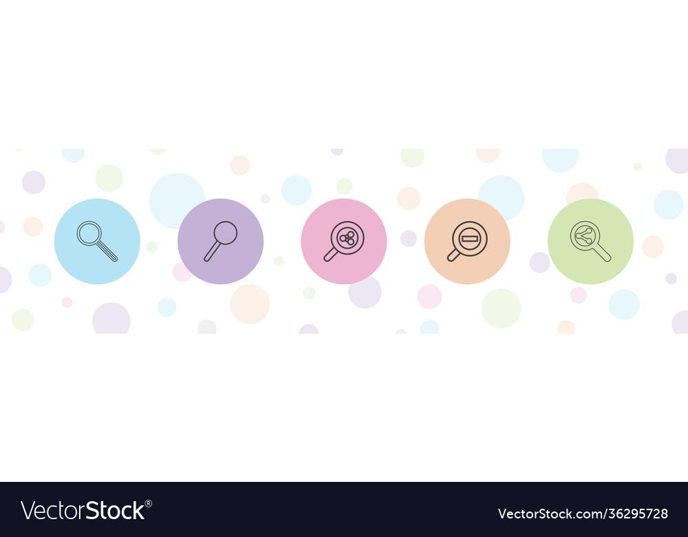 5 loupe icons