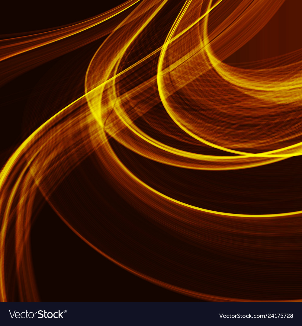 Abstract fractal orange gradient background light