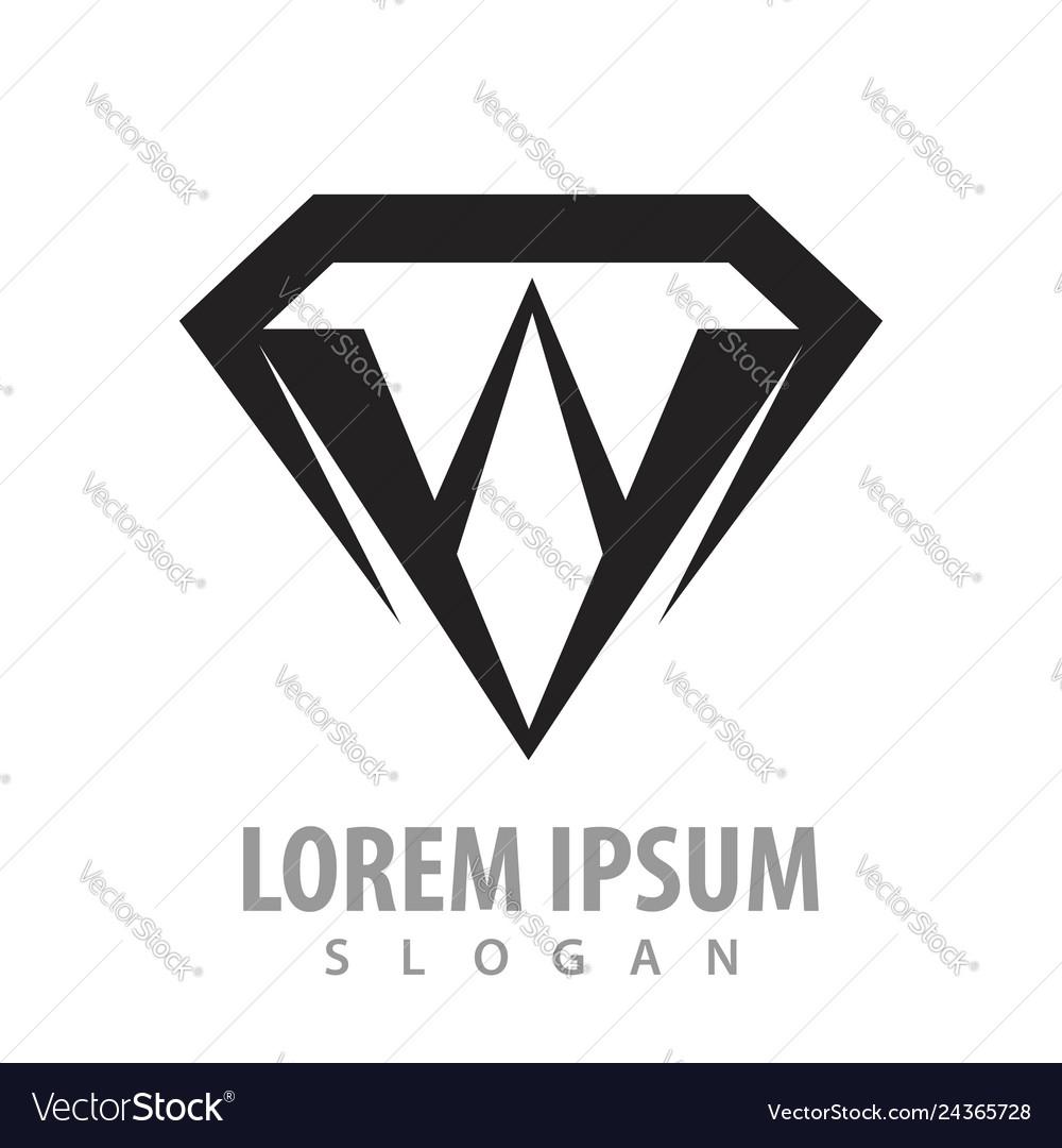 Black diamond shield concept design symbol