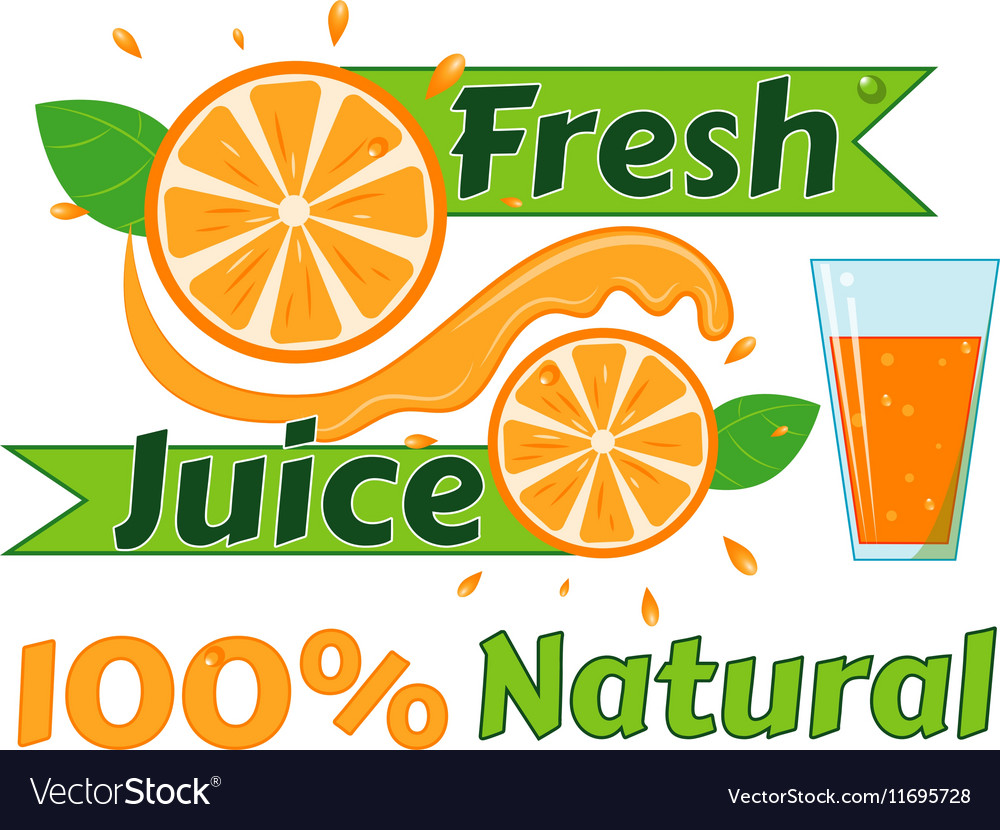 Digital fresh orange juice