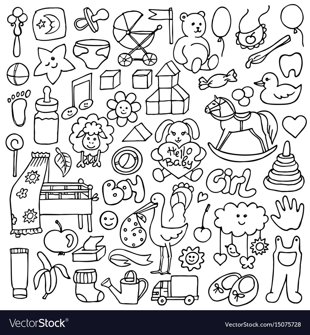 Doodle baby objects
