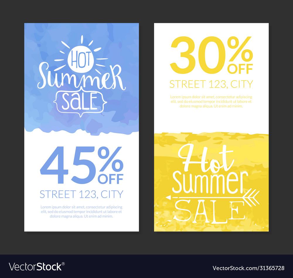 Hot summer sale banner template set promotional