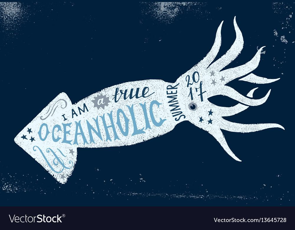 I am a true oceanholic summer 2017 lettering