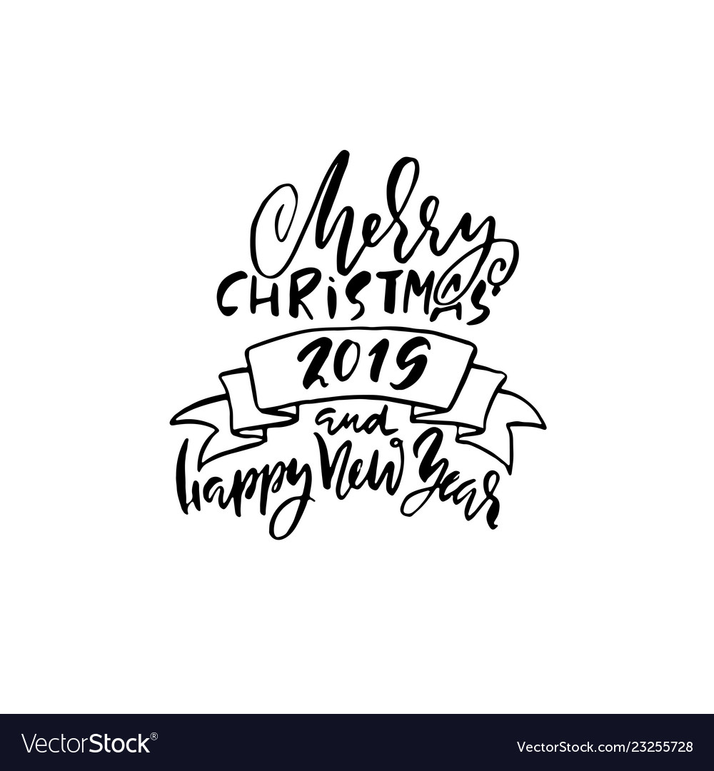 Merry christmas and happy new year holiday modern