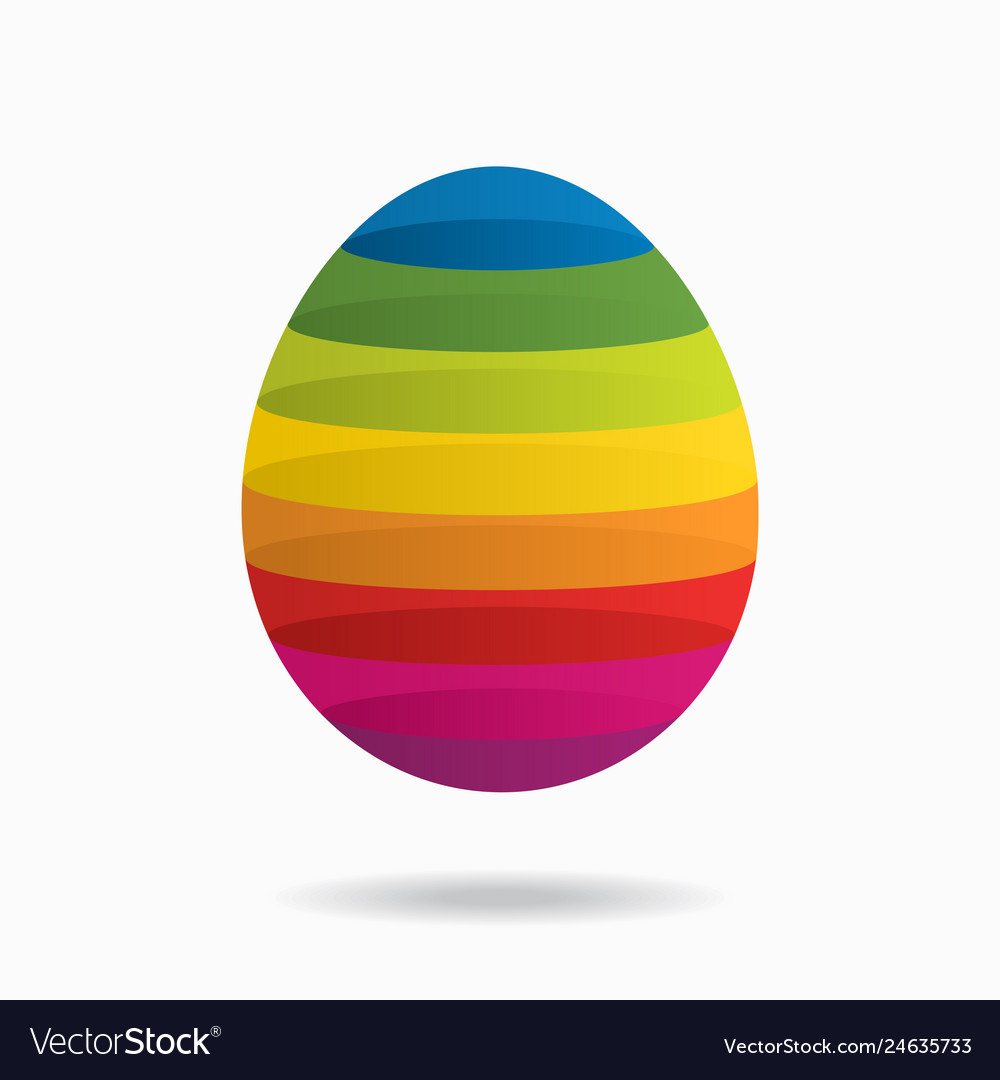 Abstract background with colorful egg