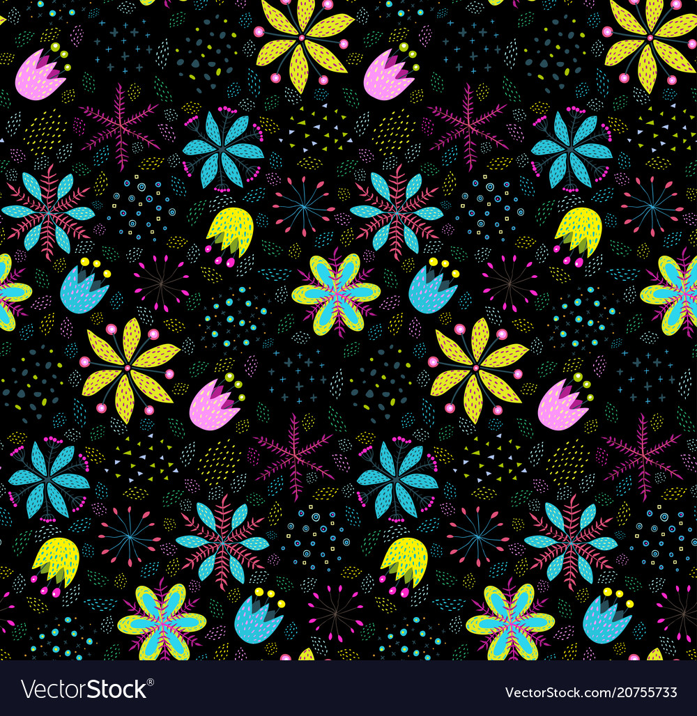 Floral colorful seamless pattern background