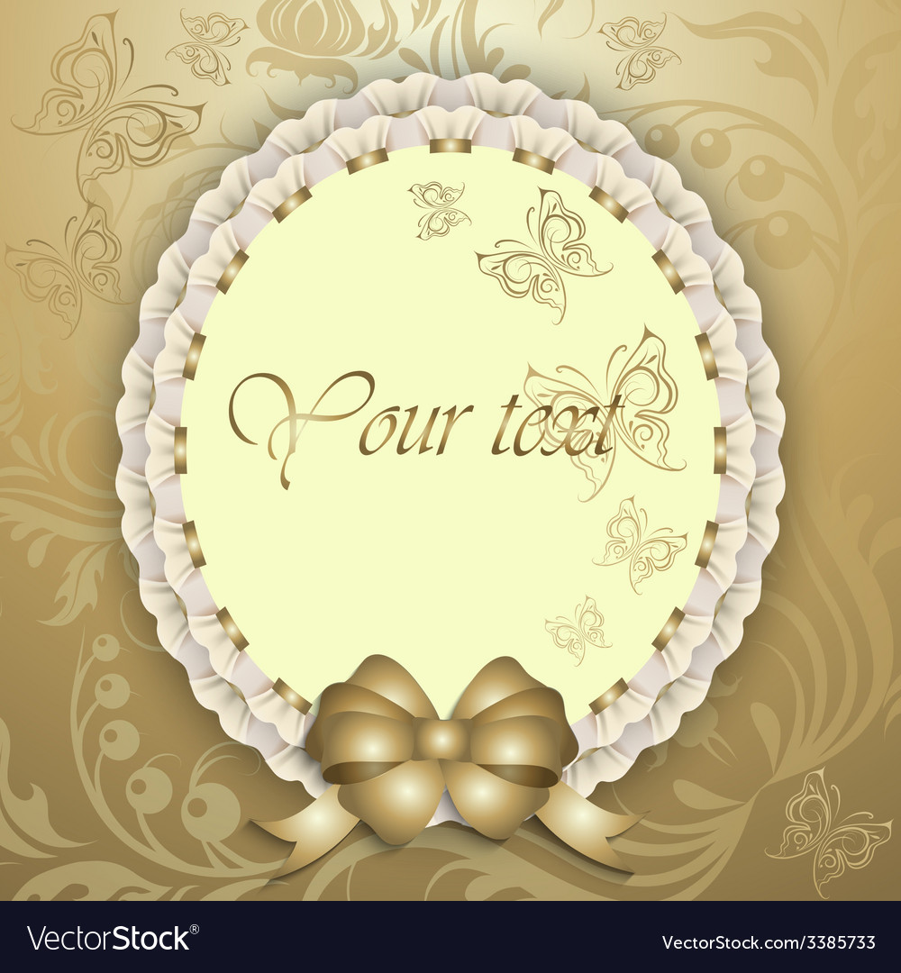 Gift card with silk ribbon place for text