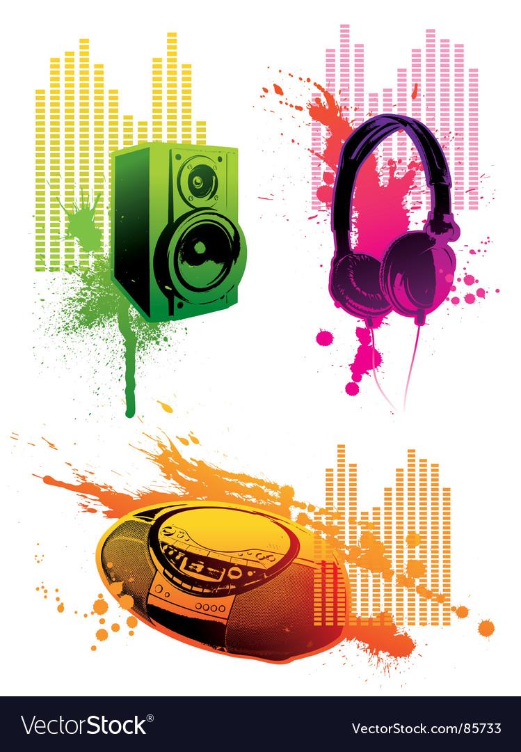 Grunge loudspeaker vector image