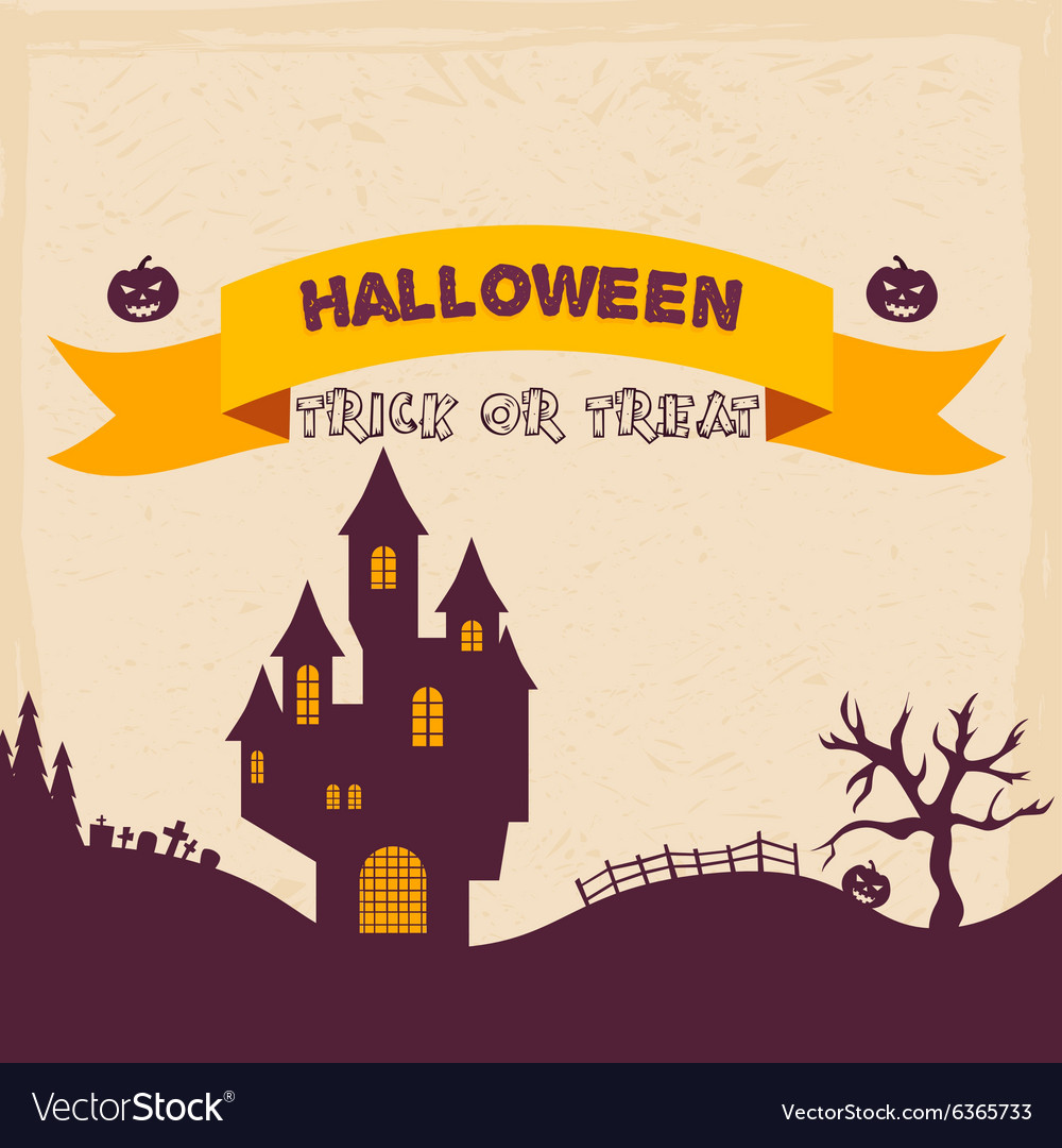 Halloween Badges and Labels in Vintage style