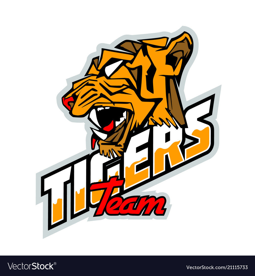 Left side tiger face logo template