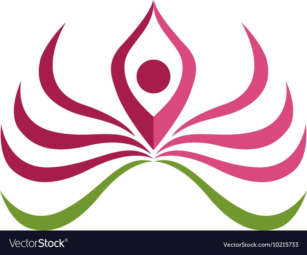 lotus logo template royalty free vector image vectorstock